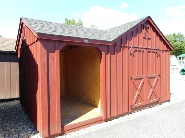 10' X 16' Rustic dormer woodshed