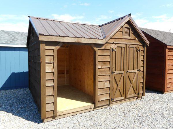 10' X 12' Rustic dormer woodshed